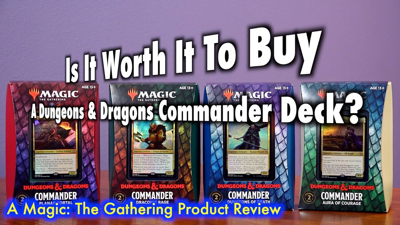 Is It Worth It To Buy A Dungeons & Dragons Commander Deck?   A Magic: The Gathering Product Review