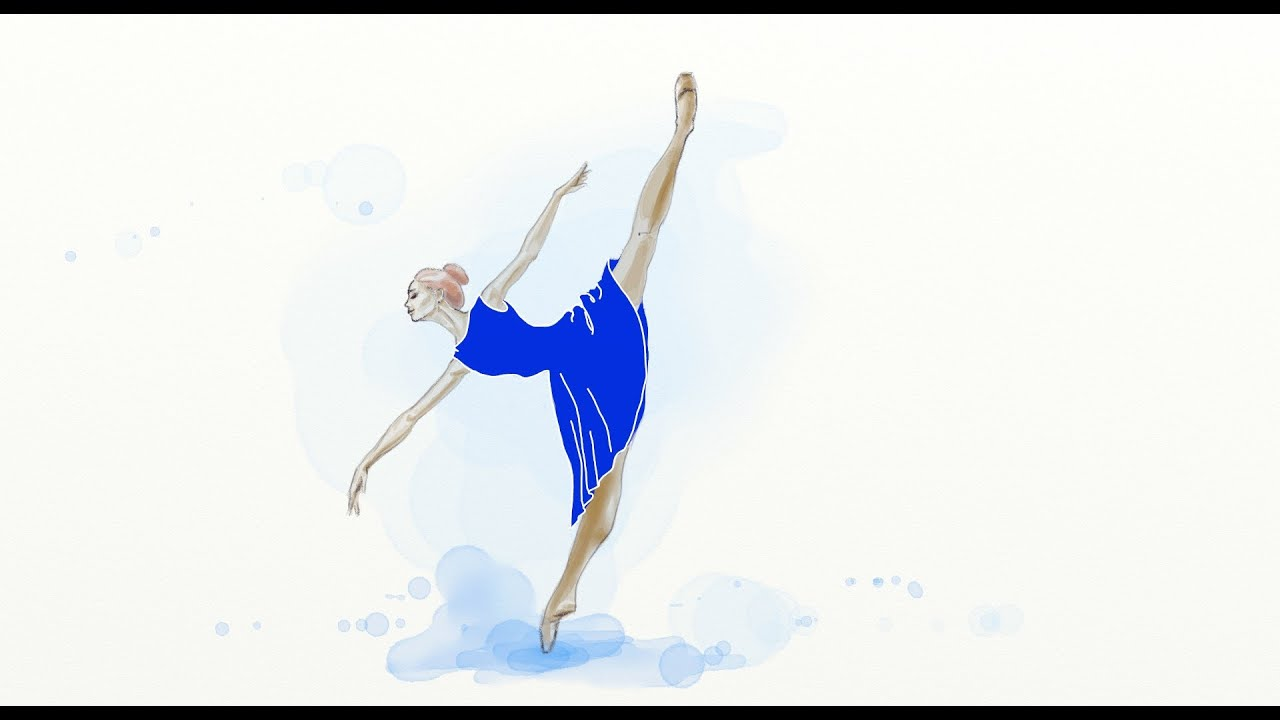 Disegno Ballerini: Ballerina Drawing In Watercolor