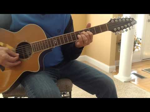 DADGAD  Free Fallin less Tom Petty 12 string