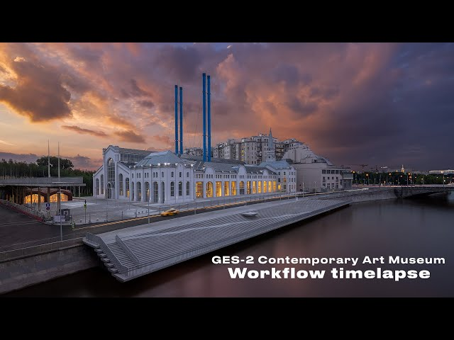 Contemporary Art Museum in Moscow  workflow timelapse XXXIV