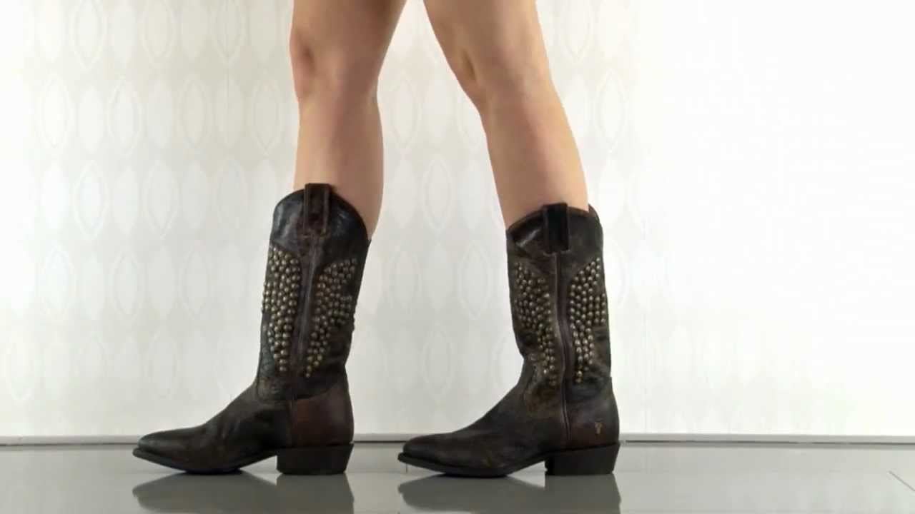 Billy Hammer Stud 77587 In Chocolate Frye Shoes Youtube
