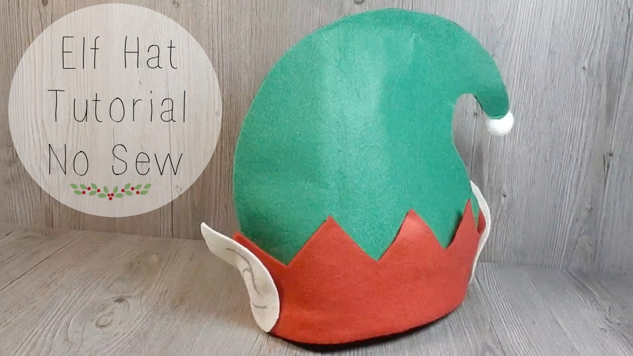 Easy elf hat tutorial no sew youtube easy elf hat tutorial no sew solutioingenieria Image collections