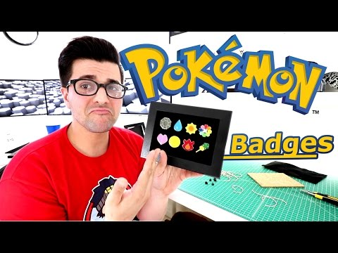 How To Make a Display for Pokemon Badges