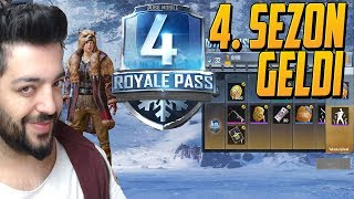 4. SEZON GELDİ ROYALE PASS I AÇTIM EFSANE SEZON-PUBG MOBİLE 0.9.5
