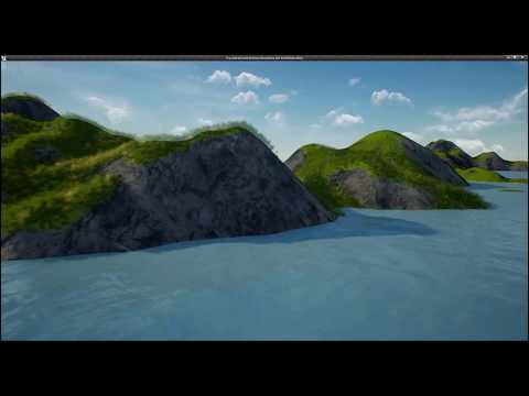 How to use landscape brushes to create seabed in UE4