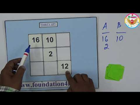 Add Up To Thirty @ Math Game || Maths Project ||