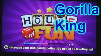 """HOUSE OF FUN Casino Slots Let's Play """"GORILLA KING"""" On Android Cell Phone"""