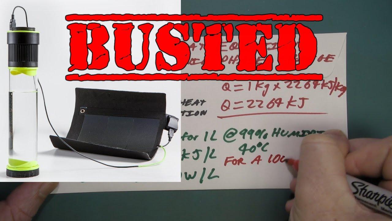 b30fd2e06e EEVblog #881 - Fontus Self Filling Water Bottle BUSTED! - YouTube