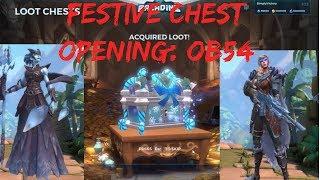 OB54 Festive Chest Opening + Lian, Inara & Tyra skin showcase!