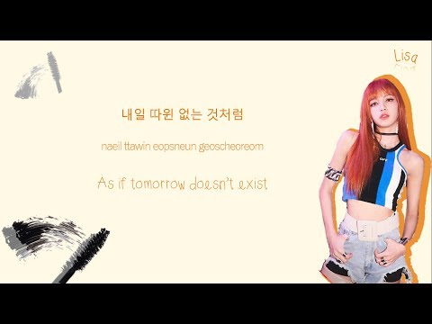 BLACKPINK 블랙핑크 - As If It's Your Last 마지막처럼 Color-Coded-Lyrics Han L Rom L Eng 가사  By Xoxobuttons