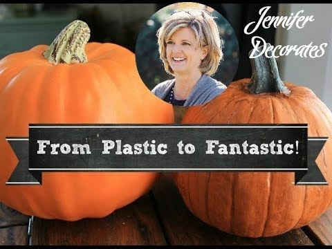 making plastic pumpkins look real - Plastic Pumpkins