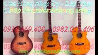 đại lý bán đàn ghita màu gỗ , guitar gỗ hồng đào chất lượng cao giá sinh viên