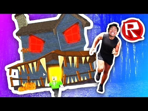escaping-the-haunted-house!- -roblox