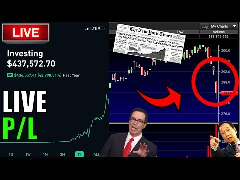 STOCKS DOWN AGAIN!! – Live Trading, Robinhood Options, Day Trading & STOCK MARKET NEWS