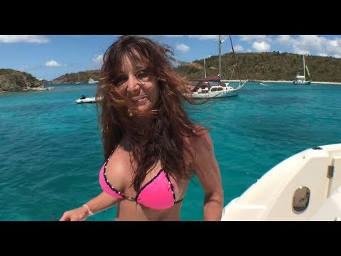Farm Girl gets picked up in Virgin Islands on a 50 foot yacht USVI St.Thomas.