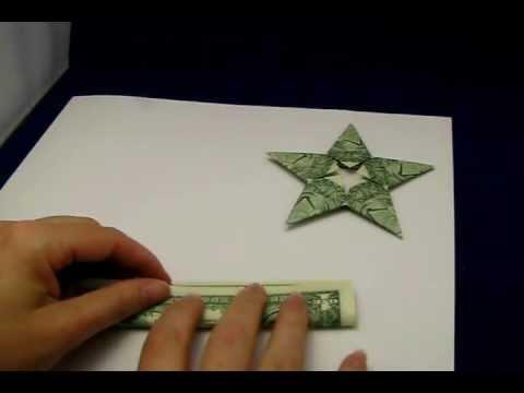 Money Origami 4-POINT NINJA STAR - Dollar Bill Art - Made with ... | 360x480