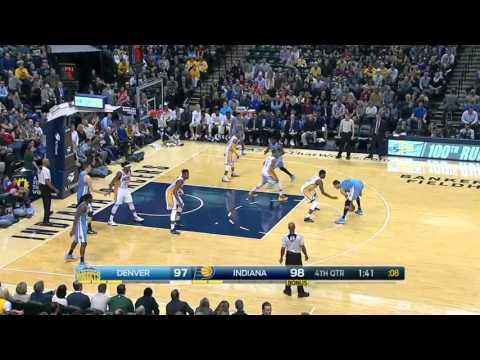 Denver Nuggets vs Indiana Pacers | January 30, 2016 | NBA 2015-16 Season