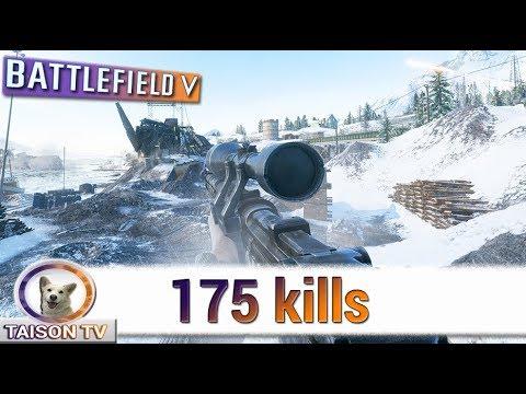Battlefield V 175 Kills Defendiendo Noruega, con Apoyo, Sniper, Tigre y Junkers thumbnail