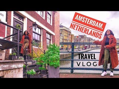 SOLO TRAVEL TO AMSTERDAM, NETHERLANDS VLOG !!