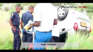 It's Up to You_Samuel Shines (Road Safety in Namibia) Official Lyrics on screen