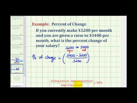 Example 2:  Determine a Percent of Change  (increase)
