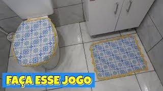 JOGO TAPETE COM RETALHO DE TECIDO – LINDO E BARATO