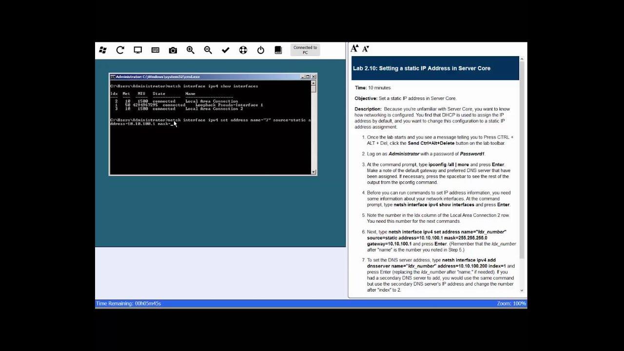 set static ip address windows server 2012