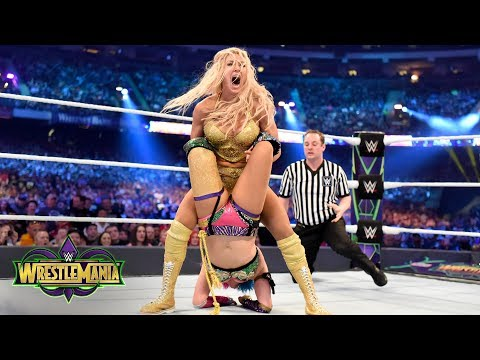 Charlotte Flair and Asuka fight tooth-and-nail for the SmackDown Women's Title: WrestleMania 34 thumbnail
