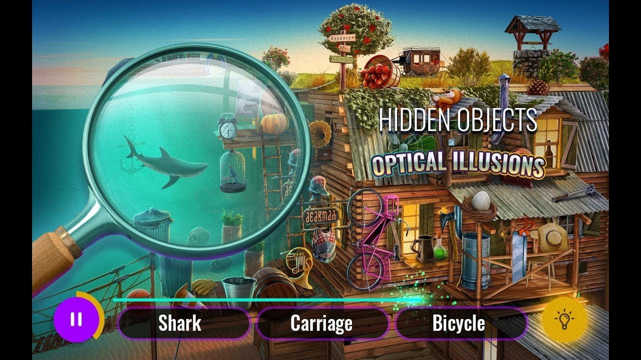 Optical Illusions Hidden Objects Game – Best Seek and Find Games for Android 2019 - YouTube