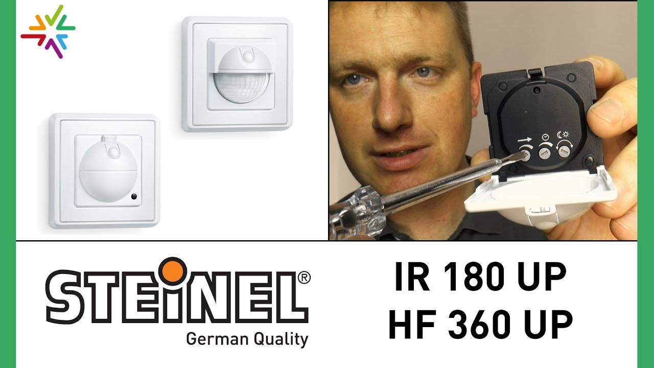 steinel ir 180 up und steinel hf 360 up watt24 video nr. Black Bedroom Furniture Sets. Home Design Ideas