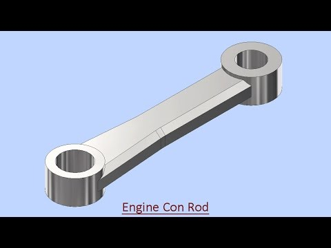 Engine Connecting Rod--Autodesk Inventor (Video Tutorial with Caption)