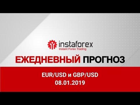 EUR/USD и GBP/USD: прогноз на 08.01.2019 от Максима Магдалинина