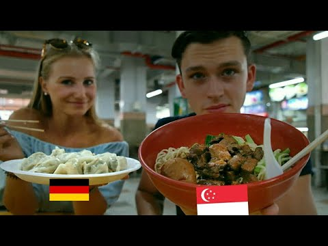 Travel to Singapore / GERMANS trying SINGAPORE FOOD