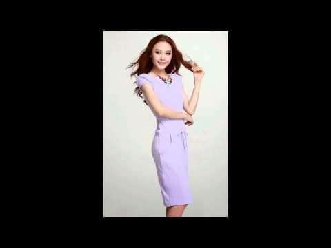 แฟชั่นชุดทำงานสวยๆ : ชุดเดรสสั้นสีม่วง เข้ารูป แฟชั่นสไตล์เกาหลี ( www.sompanshop.com )
