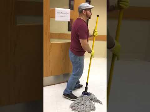 Excel Cleaning Group NJ- Mopping & Getting Ready For a Good Floor Buffering