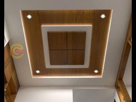 Wood Polish design on False Ceiling|AK DESIGNER| - YouTube