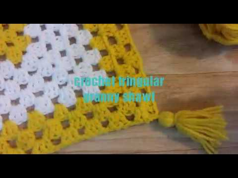 Easy Crochet Beginners Shawl Youtube