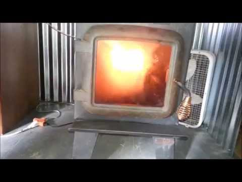 Easy Waste Oil Heater made from a wood stove