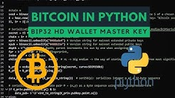 Hierarchical Deterministic Wallets (HD) - BIP32 generating master xprv xpub from seed