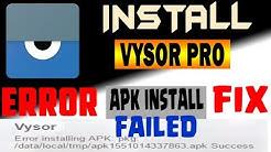 How to install Vysor pro PC   ERROR installing APK /data/temp   FIX