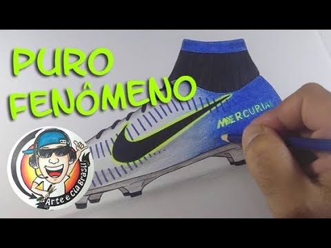 Como Desenhar A Chuteira Nova Do Neymar Passo A Passo Youtube