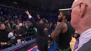 Kyrie Irving Calls Out Dad To Give Game-Worn Jersey At Madison Square Garden