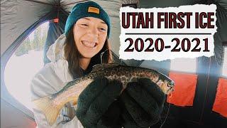 Utah Ice Fishing First Ice 2020 2021