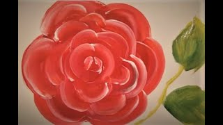 How to paint a ROSE with this simple TRICK for beginners step by step