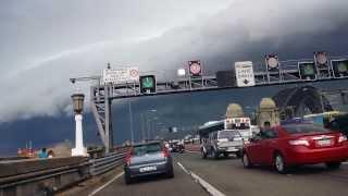 Shelf Cloud - Massive Storm over Sydney Harbour Bridge - 5th March 2014
