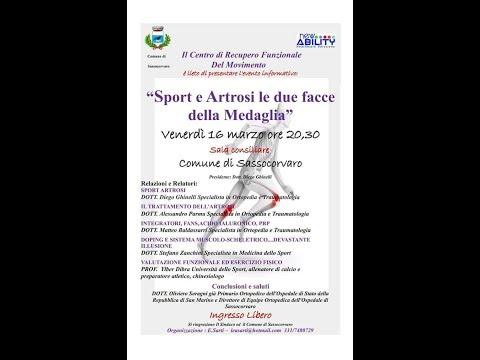 Sport e artrosi, due facce della medaglia (Sassocorvaro 16-3-2018)