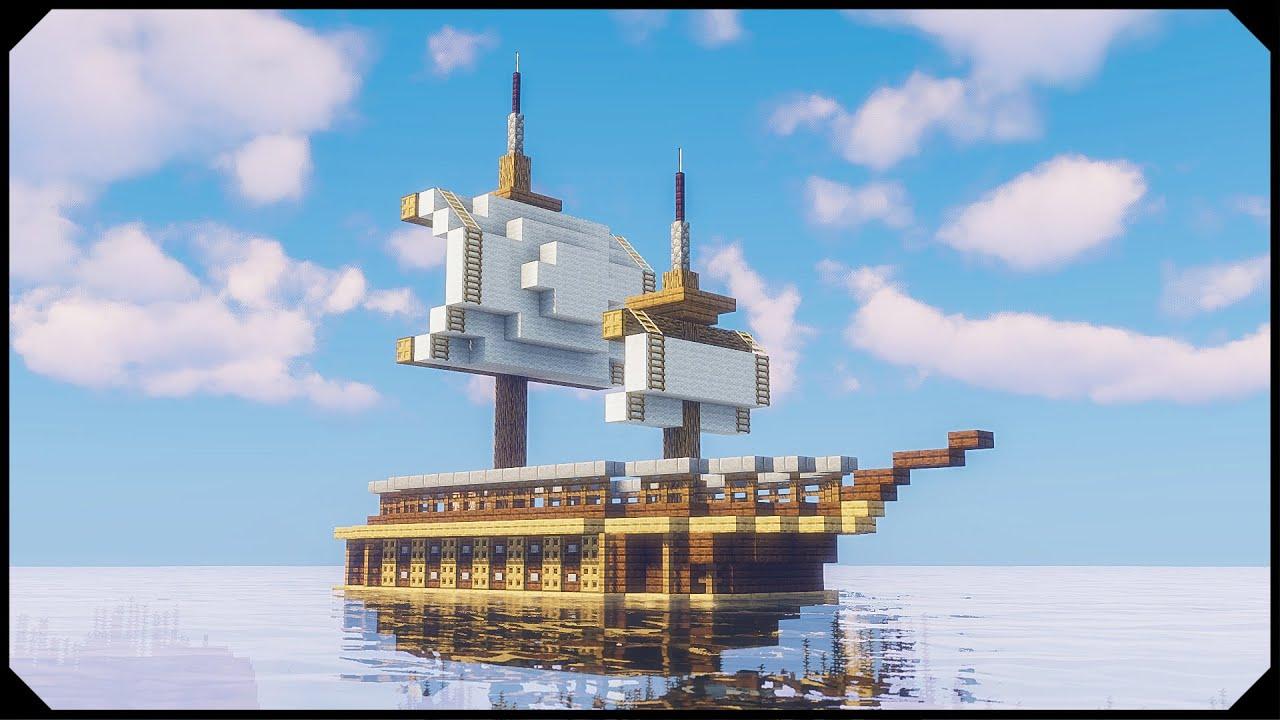 Minecraft: How to build a Ship [Tutorial]