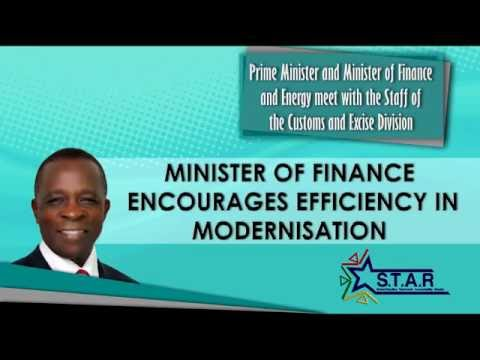 Prime Minister Keith Mitchell tours Ministry of Finance -- Customs and Excise Division (part 4)