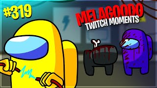 MARZAA RE DI AMONG US, LA PARTITA PERFETTA |  Melagoodo Twitch Moments [ITA] #319