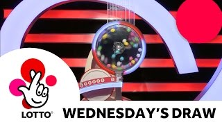 The National Lottery 'Lotto' draw from Wednesday 7th December 2016